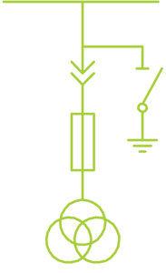 ПРИМЕРЫ СХЕМ ГЛАВНЫХ ЦЕПЕЙ КРУ Трансформатор напряжения + заземление сб. шин