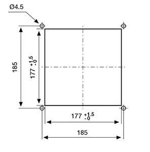 ВЕНТИЛЯТОРЫ ФИЛЬТРУЮЩИЕ 110-130 м3/ч / 230В AC Монтажный вырез FF13PA230UN