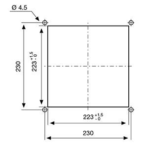 ВЕНТИЛЯТОРЫ ФИЛЬТРУЮЩИЕ 230-270 м3/ч / 230В AC Монтажный вырез FF15A230UF