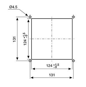 ВЕНТИЛЯТОРЫ ФИЛЬТРУЮЩИЕ 45-50 м3/ч / 230В AC Монтажный вырез FF12A230UF