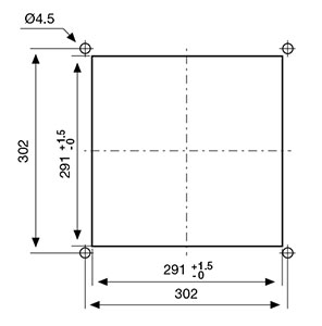 ВЕНТИЛЯТОРЫ ФИЛЬТРУЮЩИЕ 645-695 м3/ч / 400В AC Монтажный вырез FF20GEA400TUER