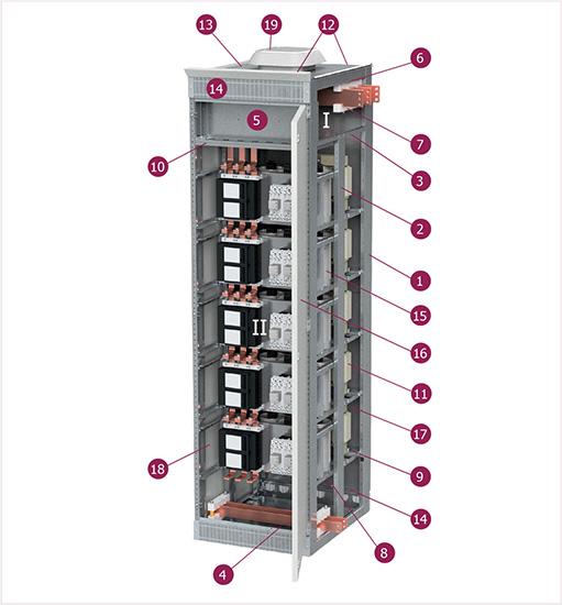 Секции компенсации реактивной мощности на базе корпуса серии LFS 2