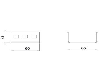 Держатель рейки трансформаторов тока нулевой последовательности и кабельных хомутов