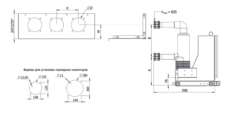 Панель изоляторов для корпусов серии HWD
