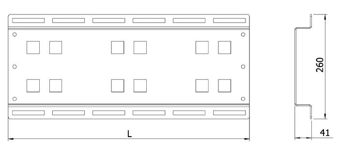 Панель монтажная трансформатора напряжения