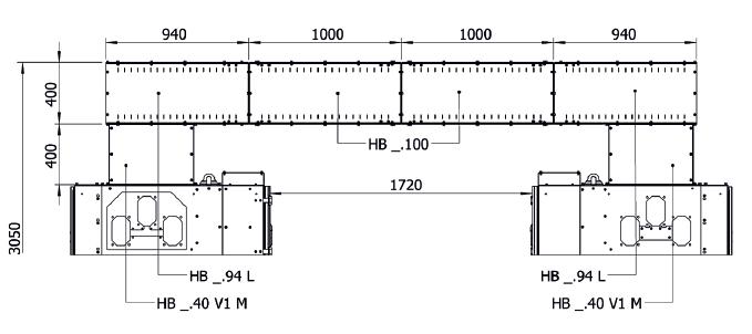 Пример шинного моста одной секции распределительного устройства