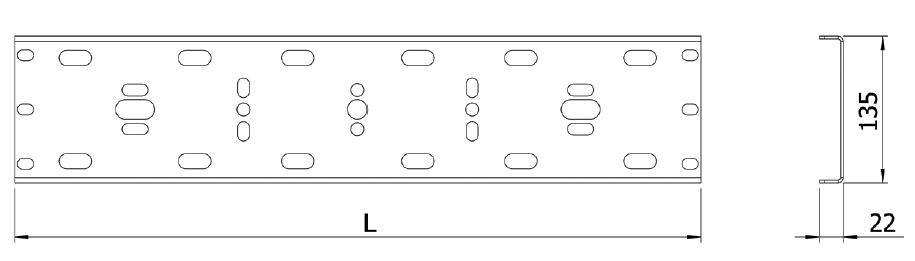 Рейка измерительных трансформаторов тока и ограничителей перенапряжения HWD