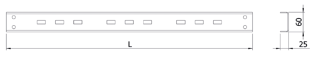 Рейка измерительных трансформаторов тока и ограничителей перенапряжения HWM