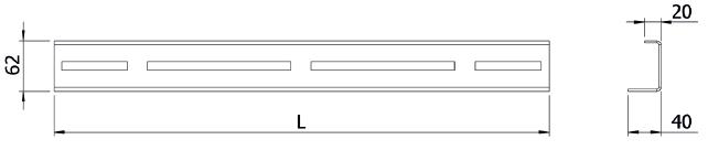 Рейка трансформаторов тока нулевой последовательности и кабельных хомутов