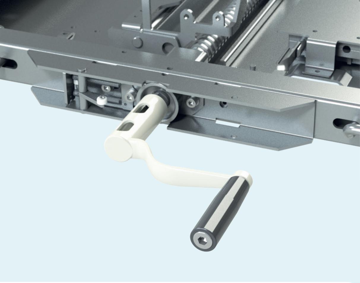 Рукоятка управления аппаратной тележкой