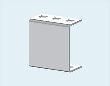 Держатель рейки трансформаторов тока нулевой последовательности и кабельных хомутов B 10.60 H