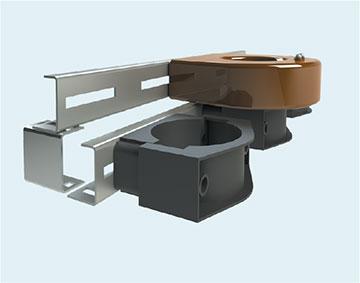 Держатель рейки трансформаторов тока нулевой последовательности и кабельных хомутов B 10.60 H 2