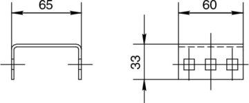 Держатель рейки трансформаторов тока нулевой последовательности и кабельных хомутов B 10.60 H Чертеж
