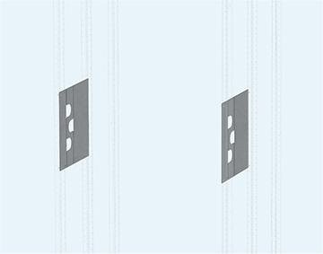 Панель секционная вертикальная под ввод кабельный