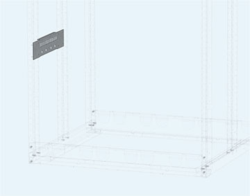 Рейка держателя шинных сборок и зажимов кабельных