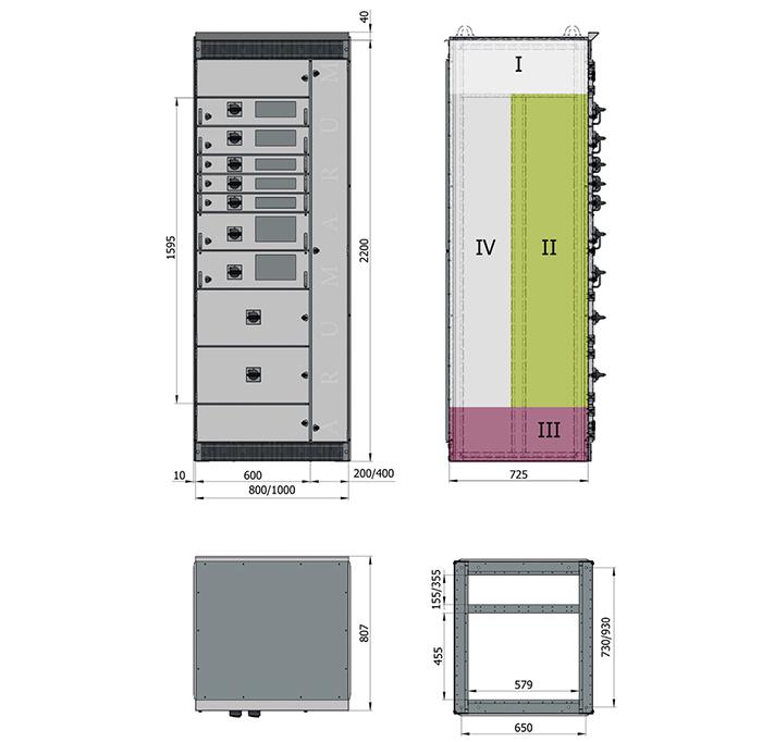 Техническая информация. Размеры корпусов. Допустимая нагрузка. 2
